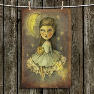 Unique Hanging Tea Towels   Amalia K. - With the Stars Above   Moon Girl Stars