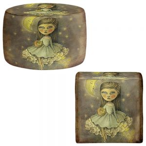 Round and Square Ottoman Foot Stools | Amalia K. - With the Stars Above
