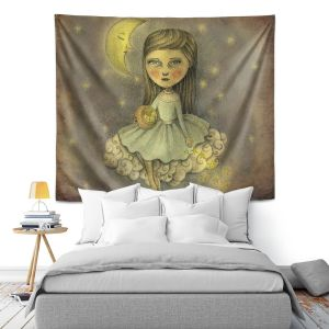 Artistic Wall Tapestry | Amalia K. With the Stars Above