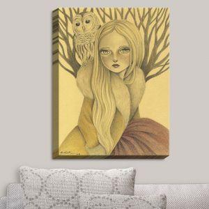 Decorative Canvas Wall Art | Amalia K. - Within Wisdom | Femenine Owl Nature