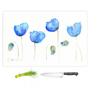 Artistic Kitchen Bar Cutting Boards | Amanda Hawkins - Azure Poppies | Floral Flowers