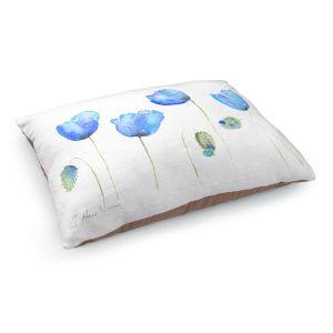 Decorative Dog Pet Beds | Amanda Hawkins - Azure Poppies | Floral Flowers