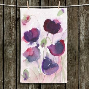 Unique Hanging Tea Towels | Amanda Hawkins - Black Poppies 2