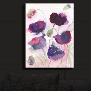 Nightlight Sconce Canvas Light | Amanda Hawkins - Black Poppies 2 | Floral Flowers