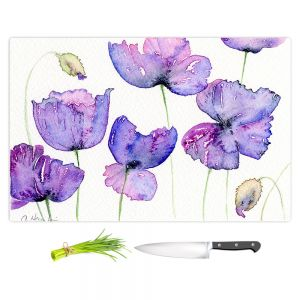 Artistic Kitchen Bar Cutting Boards | Amanda Hawkins - Cornish Poppies | Floral Flowers