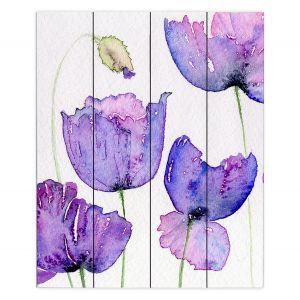 Decorative Wood Plank Wall Art | Amanda Hawkins - Cornish Poppies | Floral Flowers