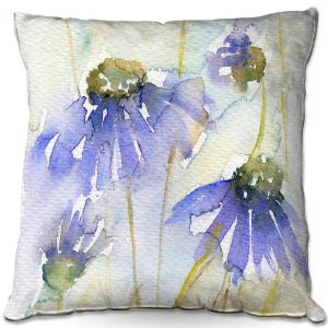 Throw Pillows Decorative Artistic | Amanda Hawkins - Cottage Garden | Floral Flowers