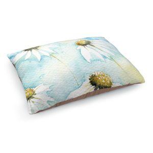 Decorative Dog Pet Beds | Amanda Hawkins - Daisies Sea Breeze | Floral Flowers