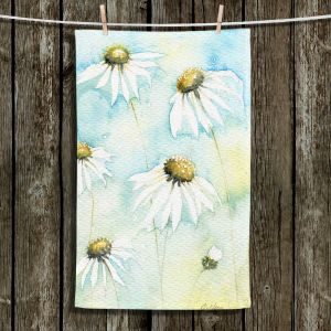 Unique Hanging Tea Towels | Amanda Hawkins - Daisies Sea Breeze