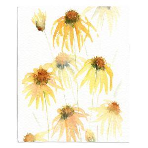 Decorative Fleece Throw Blankets   Amanda Hawkins - Echinacea 2   Floral Flowers