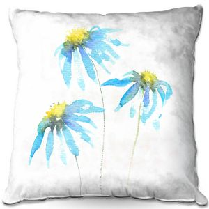 Throw Pillows Decorative Artistic | Amanda Hawkins - Echinacea 3 | Floral Flowers