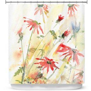 Premium Shower Curtains | Amanda Hawkins - Flower Border