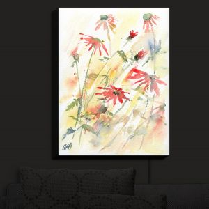 Nightlight Sconce Canvas Light | Amanda Hawkins - Flower Border | Floral Flowers