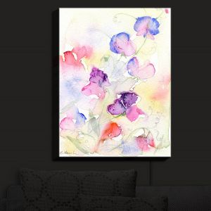 Nightlight Sconce Canvas Light | Amanda Hawkins - Garden Sweet Peas | Floral Flowers