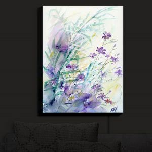 Nightlight Sconce Canvas Light | Amanda Hawkins - Hedgerow Flowers | Floral Flowers
