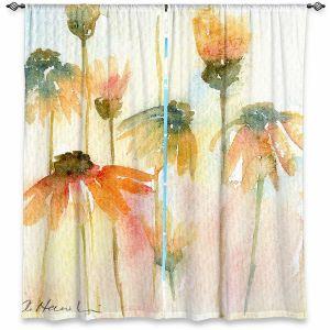 Decorative Window Treatments | Amanda Hawkins - Orange Daisies | Floral Flowers