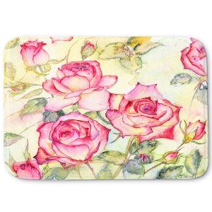 Decorative Bathroom Mats | Amanda Hawkins - Pink Roses | Floral Flowers