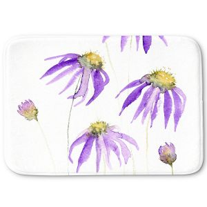 Decorative Bathroom Mats | Amanda Hawkins - Purple Echinacea | Floral Flowers
