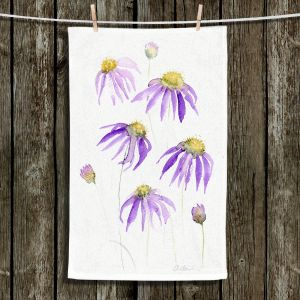 Unique Bathroom Towels | Amanda Hawkins - Purple Echinacea