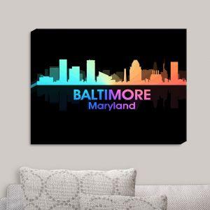 Decorative Canvas Wall Art   Angelina Vick - City V Baltimore Maryland