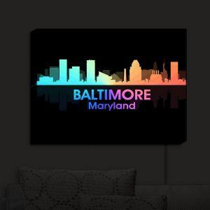 Nightlight Sconce Canvas Light | Angelina Vick - City V Baltimore Maryland