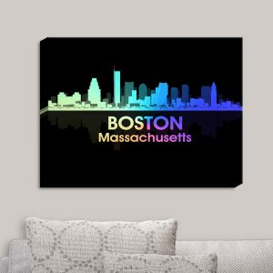 Decorative Canvas Wall Art | Angelina Vick - City V Boston Massachusetts