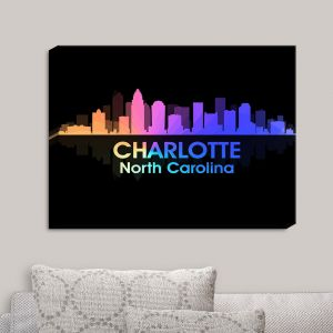 Decorative Canvas Wall Art | Angelina Vick - City V Charlotte North Carolina