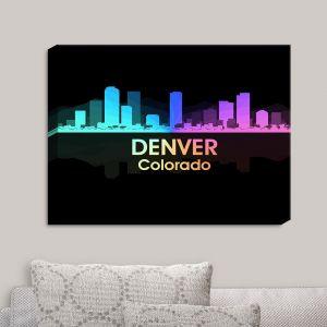 Decorative Canvas Wall Art   Angelina Vick - City V Denver Colorado