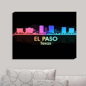Decorative Canvas Wall Art | Angelina Vick - City V El Paso Texas
