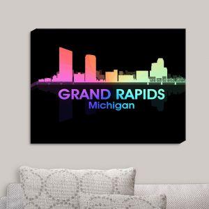 Decorative Canvas Wall Art   Angelina Vick - City V Grand Rapids Michigan