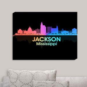 Decorative Canvas Wall Art   Angelina Vick - City V Jackson Mississippi