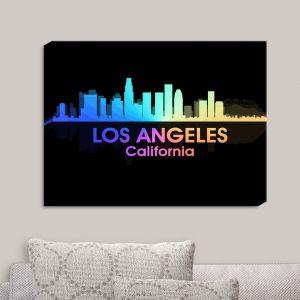 Decorative Canvas Wall Art   Angelina Vick - City V Los Angeles California