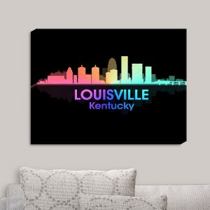 Decorative Canvas Wall Art | Angelina Vick - City V Louisville Kentucky