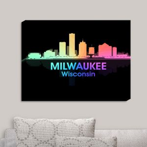 Decorative Canvas Wall Art | Angelina Vick - City V Milwaukee Wisconsin