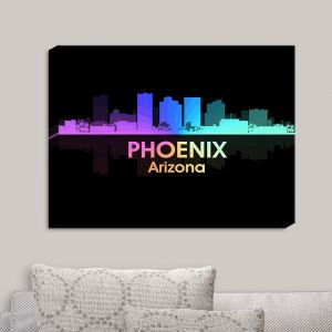 Decorative Canvas Wall Art   Angelina Vick - City V Phoenix Arizona