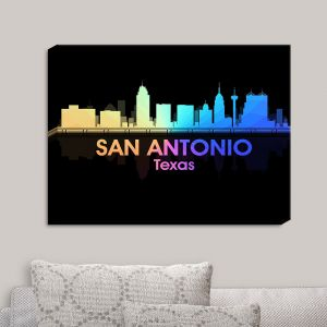 Decorative Canvas Wall Art | Angelina Vick - City V San Antonio Texas