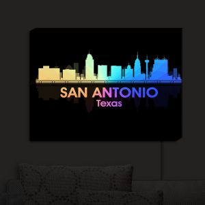 Nightlight Sconce Canvas Light | Angelina Vick - City V San Antonio Texas