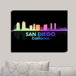 Decorative Canvas Wall Art | Angelina Vick - City V San Diego California