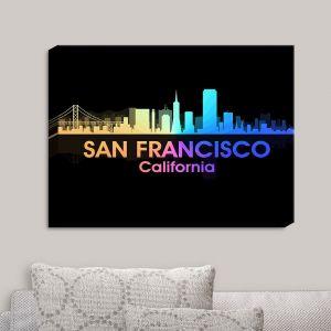 Decorative Canvas Wall Art   Angelina Vick - City V San Francisco California