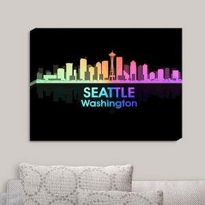 Decorative Canvas Wall Art | Angelina Vick - City V Seattle Washington