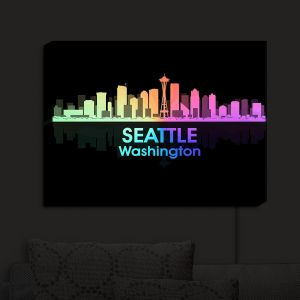 Nightlight Sconce Canvas Light | Angelina Vick - City V Seattle Washington