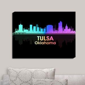 Decorative Canvas Wall Art   Angelina Vick - City V Tulsa Oklahoma
