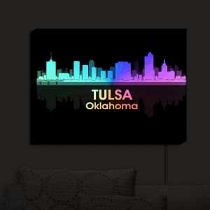 Nightlight Sconce Canvas Light | Angelina Vick - City V Tulsa Oklahoma