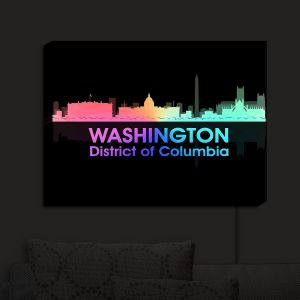 Nightlight Sconce Canvas Light | Angelina Vick - City V Washington DC