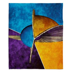 Decorative Fleece Throw Blankets | Angelina Vick - Abstract 23 | Shapes colors artistic