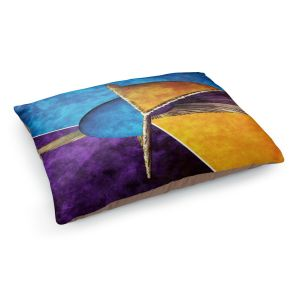 Decorative Dog Pet Beds | Angelina Vick - Abstract 23 | Shapes colors artistic