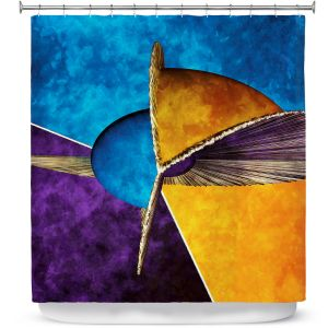 Premium Shower Curtains | Angelina Vick - Abstract 23 | Shapes colors artistic