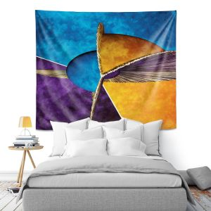 Artistic Wall Tapestry | Angelina Vick - Abstract 23 | Shapes colors artistic