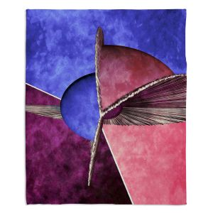 Artistic Sherpa Pile Blankets | Angelina Vick - Abstract 24 | Shapes colors artistic
