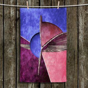 Unique Hanging Tea Towels | Angelina Vick - Abstract 24 | Shapes colors artistic